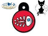 Medalion Inima Mica din inox, Pet Scribe, dimensiunea 25x30mm, se personalizeaza cu textul dorit de client ,inel gratuit , cod produs 7323-02 - 37 RON